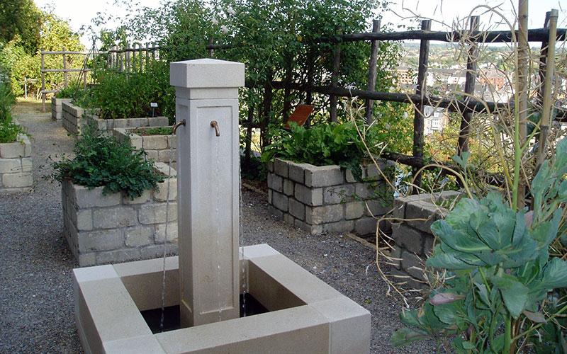 La fontaine du Jardin des deux tours