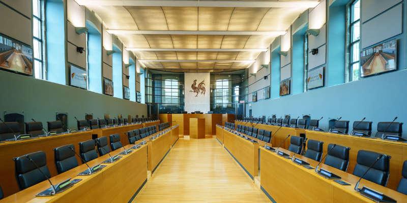 Intérieur du parlement wallon