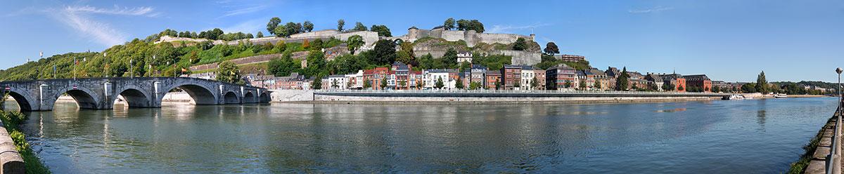 LE Pont de Jambes, la Citadelle et le Parlement de Wallonie