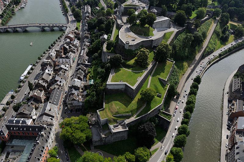 Vue aérienne de la Citadelle de Namur