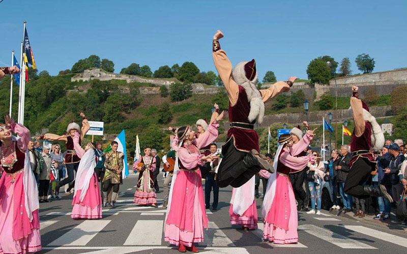 het internationaal folklorefestival Namen
