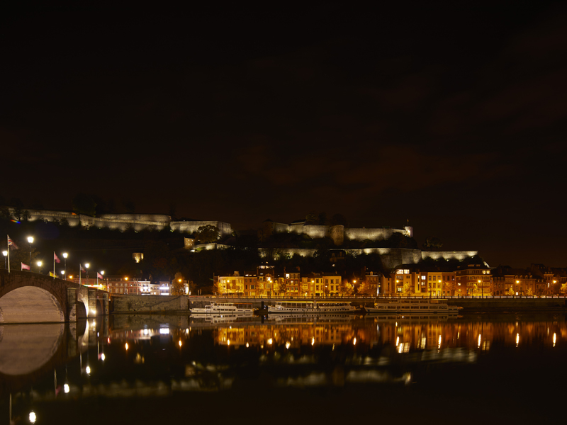 Citadel of Namur illuminated