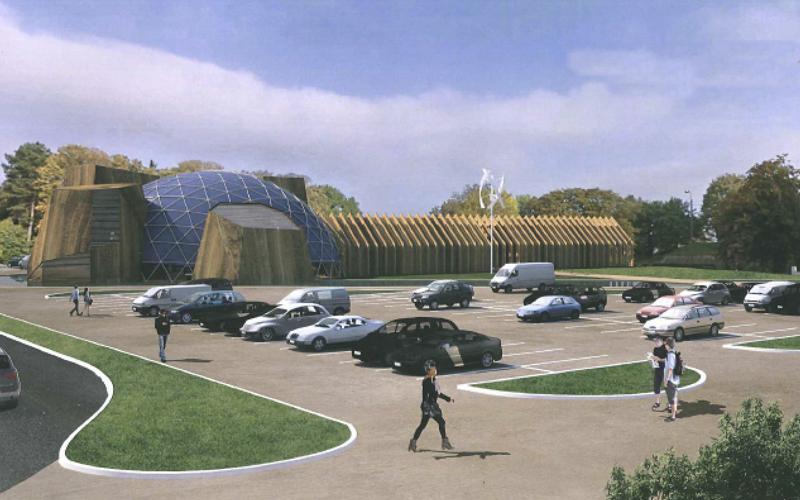 Toekomstige implantatie van het Belgische paviljoen van de Universele Expo van Milaan